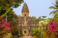 Bakong Prasat temple in Angkor Wat complex Royalty Free Stock Image
