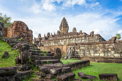 Bakong temple mountain, Cambodia Royalty Free Stock Photography