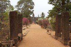 Bakong temple ruins Stock Images