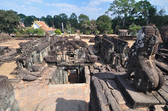 Bakong Wat w Siem Przeprowadza żniwa, Kambodża Zdjęcia Stock