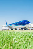 Bakou - 27 août 2016 : Embarquement d'avion d'AZAL le 27 août dedans Photos stock