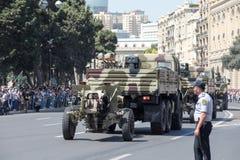 BAKOU, AZERBAÏDJAN - 26 juin 2018 - défilé militaire à Bakou, Azerbaïdjan le jour d'armée L'Azerbaïdjan célébrant le 100th annive photo stock