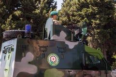 BAKOU, AZERBAÏDJAN - 26 juin 2018 - défilé militaire à Bakou, Azerbaïdjan le jour d'armée L'Azerbaïdjan célébrant le 100th annive photographie stock