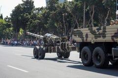 BAKOU, AZERBAÏDJAN - 26 juin 2018 - défilé militaire à Bakou, Azerbaïdjan le jour d'armée L'Azerbaïdjan célébrant le 100th annive image libre de droits
