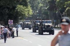 BAKOU, AZERBAÏDJAN - 26 juin 2018 - défilé militaire à Bakou, Azerbaïdjan le jour d'armée L'Azerbaïdjan célébrant le 100th annive image stock