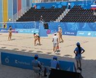 BAKOU, AZERBAIJAN-THE PREMIER GAMES-JUNE EUROPÉEN 20,2015-BEACH VOLL Image libre de droits