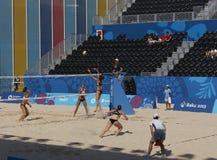 BAKOU, AZERBAIJAN-THE PREMIER GAMES-JUNE EUROPÉEN 20,2015-BEACH VOLL Photo stock