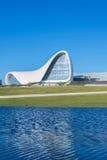 BAKOU 27 DÉCEMBRE : Heydar Aliyev Center dessus Image libre de droits
