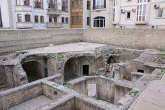 bakou l'azerbaïdjan Tombe de Shirvanshahs dans la vieille ville Images libres de droits