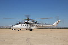 Bakre attackhelikopter för Mil Mi-24 Royaltyfri Fotografi