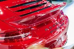 Bakre design av Porsche 911 Carrera 4 GTS Royaltyfria Foton
