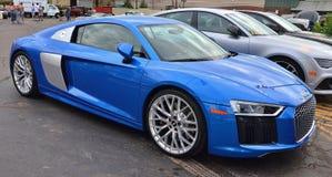 Bakre Engined Audi bil på den Woodward drömkryssningen Royaltyfri Fotografi