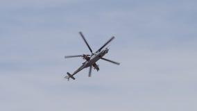 Bakre helikopter Mi-24 Royaltyfri Bild