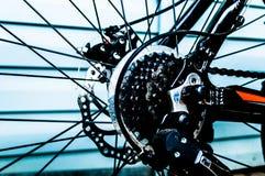 Bakre hjul för tandhjul av cykeln Royaltyfria Foton