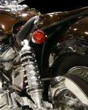 bakre inställning för motorcykel arkivfoto