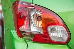 Bakre ljus för bruten bil royaltyfri foto