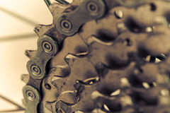 Bakre mountainbike i retro Arkivfoto
