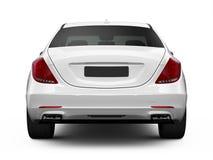 Bakre sikt av den vita lyxiga bilen Royaltyfria Bilder