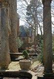 Bakre sikt av Hammond Castle arkivbilder