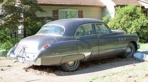 Bakre sikt av 50-tal Buick Dyna Flow Super Arkivfoto