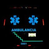 bakre sikt för ambulans Arkivbilder