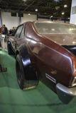 Bakre sikt för antik bil Arkivfoton