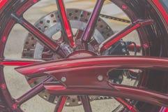 Bakre sikt för modern motorcykel Royaltyfria Foton