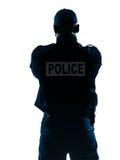 bakre sikt för polis Royaltyfri Foto