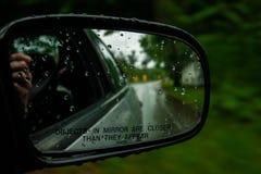 bakre sikt för spegel royaltyfri bild