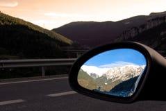 bakre sikt för spegelberg Arkivbild
