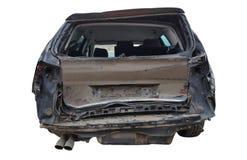 Bakre skadebil för olycka arkivfoto