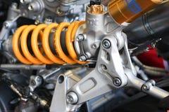 Bakre upphängning Ducati Panigale 1199 R Team Ducati Alstare Superbike WSBK Arkivfoto