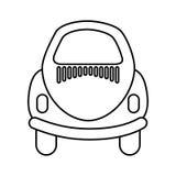 Baksida av bilsymbolen vektor illustrationer