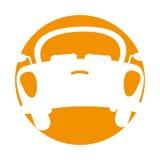 Baksida av bilsymbolen stock illustrationer