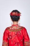 Baksida av den kinesiska bruden royaltyfri bild