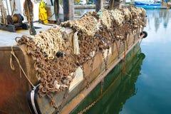 Baksida av en fiskeb?t royaltyfri foto