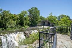 Baksida för gödsvin` s parkerar och vattenfall 36 Arkivbild
