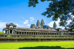 Baksidan av Angkor Wat cambodia Royaltyfri Bild