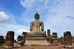 Baksidan av Buddhabilden royaltyfri foto
