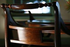 Baksidan av stolen av rummet Arkivbild