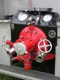 Baksidt av brandmotorn Arkivbild