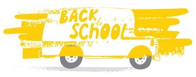 Baksidt till skolbussen Arkivfoton