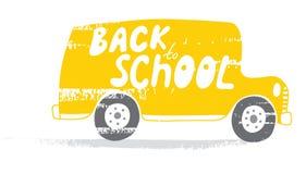 Baksidt till skolbussen Royaltyfria Bilder
