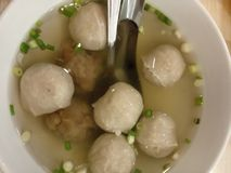 Bakso. Is one of favorite culinary in Makassar stock image