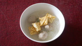 Bakso, noodle, and siomay (indonesian traditional food) Royalty Free Stock Photos