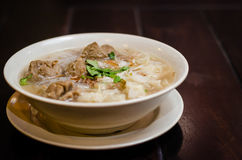 Bakso. Is white rice small noodles cooked with big meatballs in soup stock photography