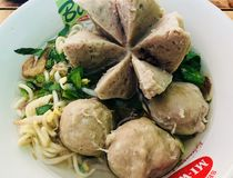 Bakso y x28; Meatballs& indonesio x29; fotos de archivo