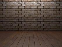 Baksteen & houten binnenland Royalty-vrije Stock Foto