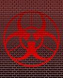 Baksteen biohazard Stock Foto