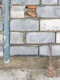 Baksteen in de blokmuur Stock Fotografie